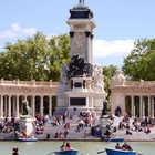 Row Boaters, Retiro Park, Madrid, Spain