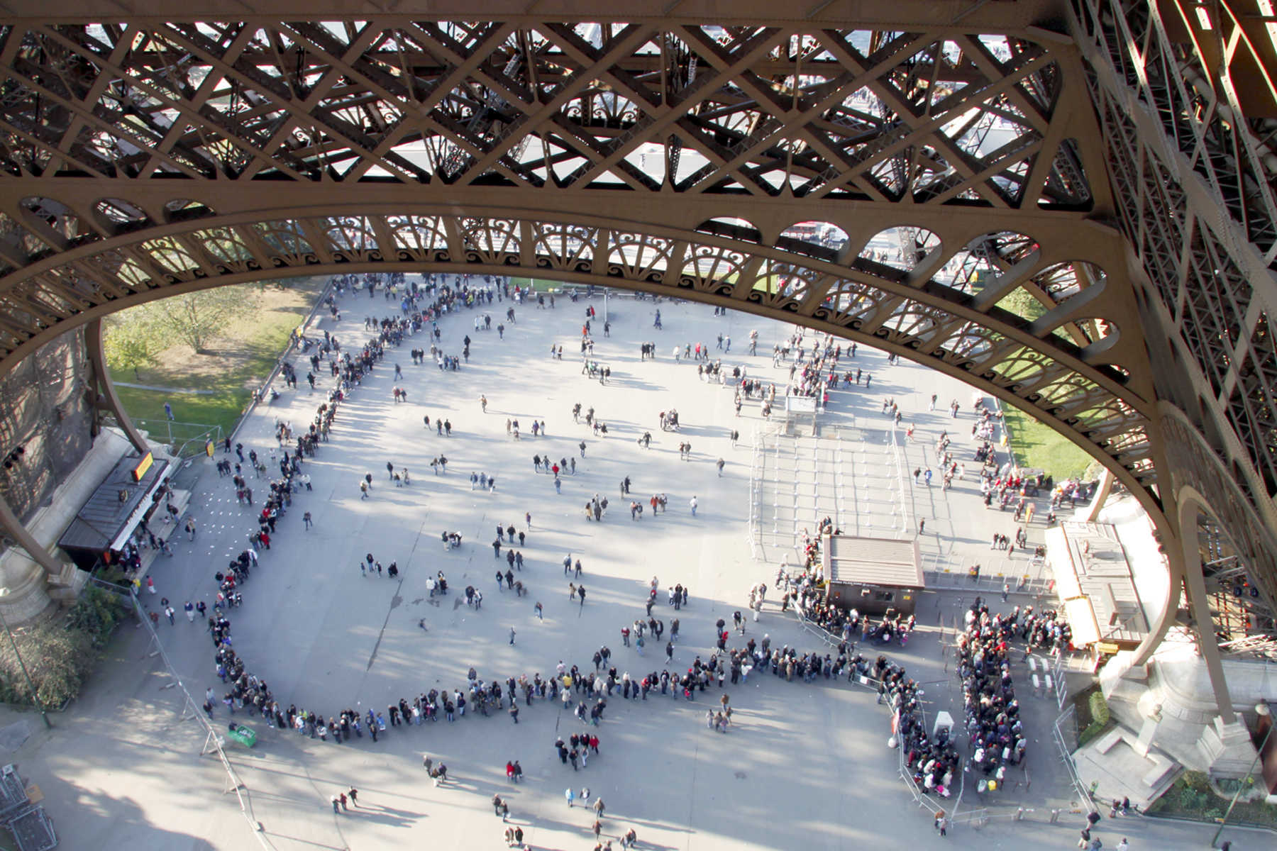 Waiting Line, Eiffel Tower, Paris, France