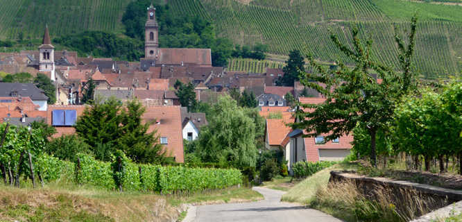 Route du vin village, Alsace, France