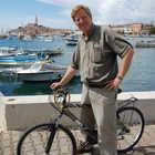 Rick Steves on Bike in Rovinj, Croatia