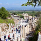 Road and Library View, Ephesus, Turkey