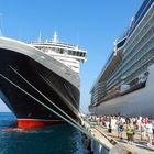 Cruise Ships Debarking at Kusadasi, Turkey