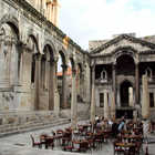Peristyle Outdoor Cafe, Split, Dalmatian Coast, Croatia
