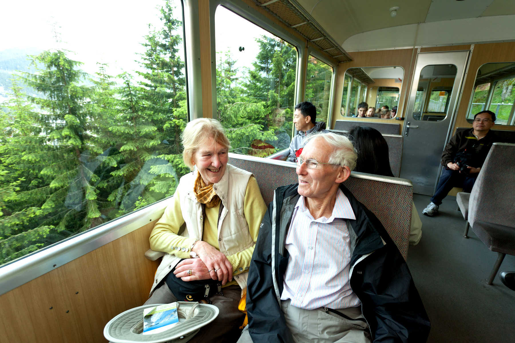 Train Travelers, Berner Oberland, Switzerland