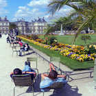 People at Luxembourg Gardens, Paris, France