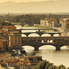 Florence, the Arno, and the Ponte Vecchio