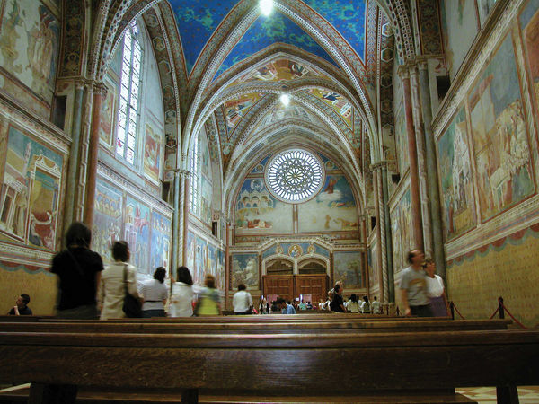 St. Francis Basilica Interior, Assisi, Italy