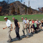 Tour Group Runners, Ancient Olympia, Peloponnese, Greece