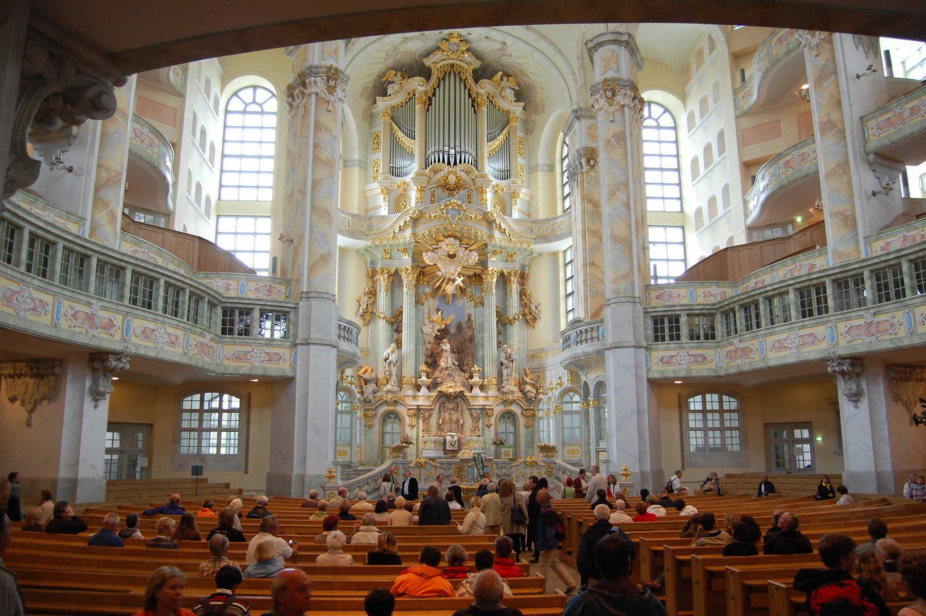 Frauenkirche Interior, Dresden, Germany