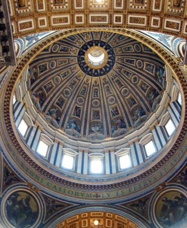 St. Peter's Dome Interior, Vatican, Rome, Italy