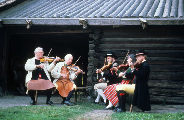 Fiddlers at Skansen Open Air Folk Museum, Stockholm, Sweden