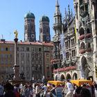 Pedal Taxis in Marienplatz, Munich, Bavaria, Germany