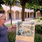 Guide at Van Gogh Garden, Arles, Provence, France