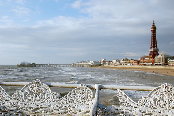 Beach in Blackpool, England