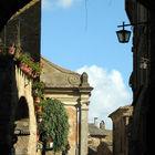 Street in Civita di Bagnoregio, Lazio, Italy