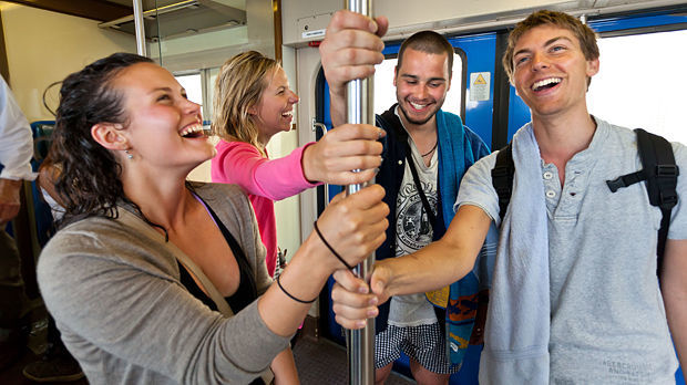 On the train in the Cinque Terre
