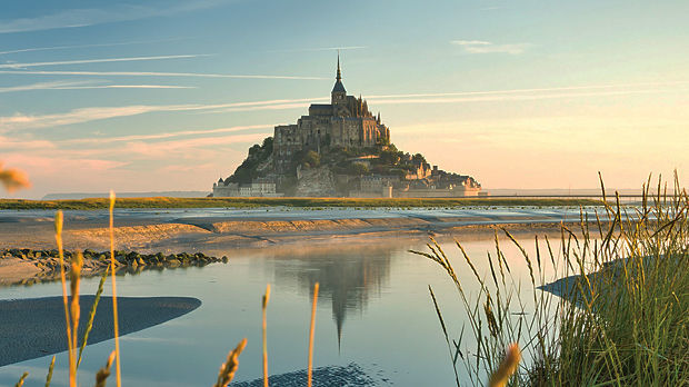 The Mont St Michel at sunrise